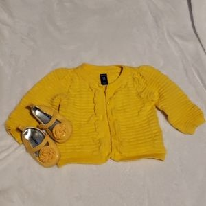Baby Girls Old Navy Cardigan and Flats Bundle